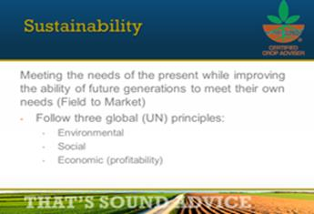Sustainability Specialty Certification Statement