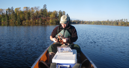 Collecting watershed data on mercury in BWCA