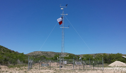 Mesonet weather station in Throckmorton County